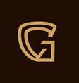 letter g symbol vector image