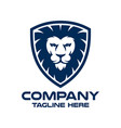 modern lion in shield and security logo vector image vector image