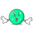money eye circle mascot cartoon style vector image vector image