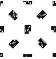 notebook pattern seamless black vector image vector image