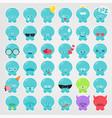 octopus emoji set vector image vector image