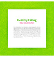 Paper Template over Healthy Eating Line Art vector image