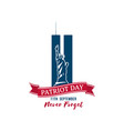 patriot day design template 11th september vector image vector image