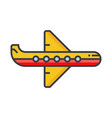 plane flat line concept vector image vector image