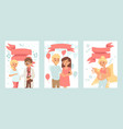 pregnant woman healthcare banners young family vector image