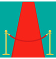 Red carpet Rope barrier golden stanchions vector image vector image