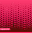 red gorizontal seamless halftone pattern vector image