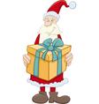 santa claus with big gift vector image vector image