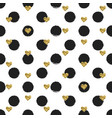 Seamless hand drawn ink polka dot pattern with