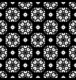 seamless pattern black and white ornamental vector image vector image