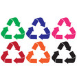 set of recycle logo different color vector image vector image