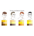 set palettes with yellow and brown colors vector image vector image