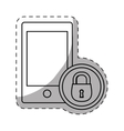 smartphone lock server banner icon vector image vector image