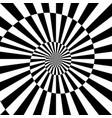 sunburst black white background with spiral vector image