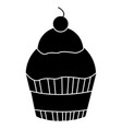 sweet cupcake isolated icon vector image vector image