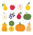 sweet harvest fruit and vegetables vector image vector image