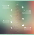 timeline infographic with unfocused background vector image vector image