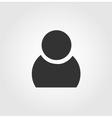 User man icon flat design vector image