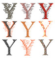 various combination fishnet letter y vector image vector image