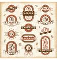 vintage apple labels set vector image vector image