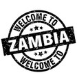 welcome to zambia black stamp vector image vector image