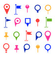 gps and navigation colored icons on white vector image