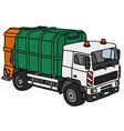Hand drawing of a dustcart vector image