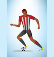 abstract of football player vector image vector image