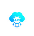 api cloud software integration icon vector image