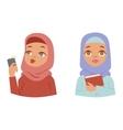 arabic woman vector image