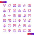 banking and financial gradient icons set vector image vector image