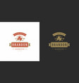 barbecue logo grill steak vector image vector image