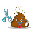 barber poop emoticon character cartoon vector image