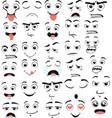 big set cartoon emotions in flat style vector image
