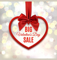 Big Valentines day sale poster vector image vector image
