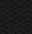 Black textured plastic corners in row vector image