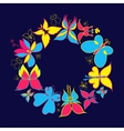 Butterfly Round Frame vector image