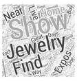 buy jewelry wholesale at jewelry shows and expos vector image vector image