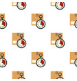 cardboard box with stopwatch pattern flat vector image vector image