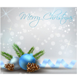 Christmas background with conifer cones vector image vector image