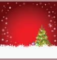 christmas tree and christmas balls with fir and vector image vector image