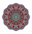 colorful boho mandala deisgn vector image vector image