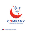 company name logo design for moon night star vector image vector image