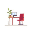 corporate workplace semi flat rgb color vector image