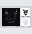 devil satan artwork vector image vector image