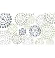dotted circles horizontal vector image vector image