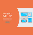 electronics and gadgets promotional shopping sale vector image