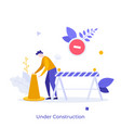 flat character concept vector image