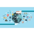 flat design travel composition vector image vector image