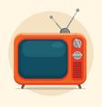flat tv retro design antique style cartoon vector image